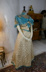 7 antique evening gown 1895