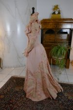 21 antique Rousset Paris society dress 1899