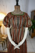 3 antique romantic Period dress 1825