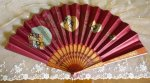 2 antique folding fan 1905