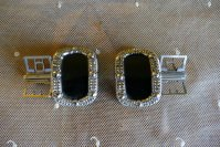 1 antique shoe buckles 1860