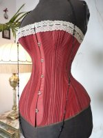 3 antique corset 1880