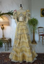 41 antique evening gown Duval Eagan 1889