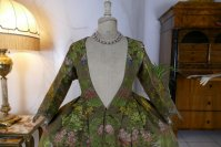 1 antique childs court dress 1760