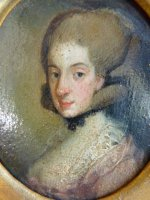 7 antique miniature portrait 1770