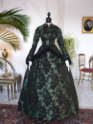 antique reception gown 1856