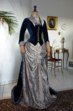 21 antique bustle dress 1878