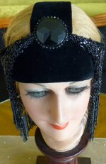 1 antique flapper headpice 1920