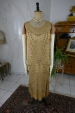 2 antique beaded flapper evening dress 1922