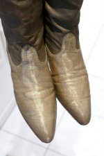 32 antique gold lamee boots 1920