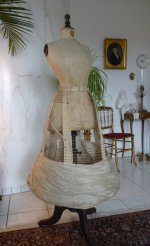 11 antique wire hoop skirt