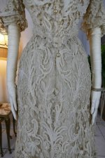 4 antique ALTMANN Battenburg lace dress 1904