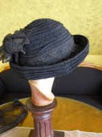 19 antique mourning Hat 1905