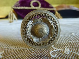 antique hat Pin 1890