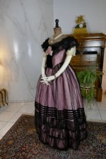 14 antique crinoline ball gown 1855