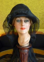 3 antique mourning hat 1910
