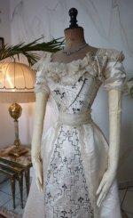3 antique Ball gown 1890
