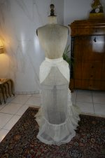 82 antique bustle Overgown 1880