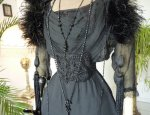 4 antique evening gown 1909