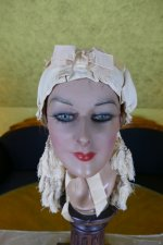 2 antique wedding bonnet 1870