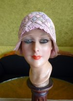 2 antique cloche 1920