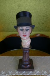 antique lady riding hat 1890