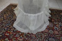 83 antique bustle Overgown 1880