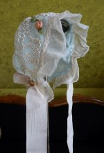 3 antique baby bonnet 1910