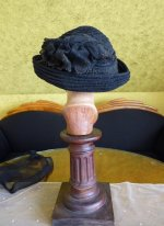 18 antique mourning Hat 1905