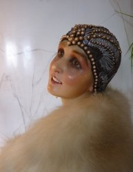 antique flapper cloche
