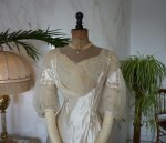 1 antique edwardian wedding dress 1909