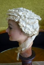 6 antique wedding bonnet 1850
