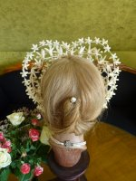 13 antique wax wedding tiara