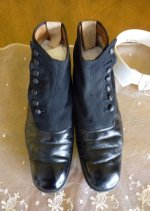6 antique mens high button shoes