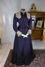 10 antique Madame Percy Visiting gown 1898