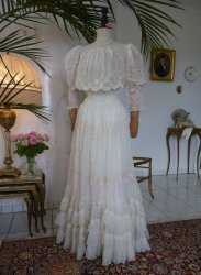 antique tea gown