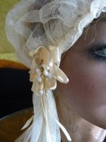 5 antique wedding cap veil 1920