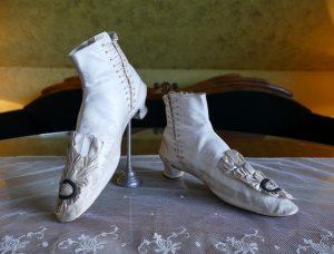 antique wedding boots 1855