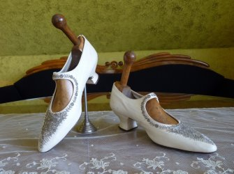 antique wedding shoes 1908