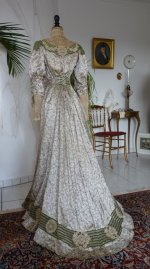 37 antique recpetion gown 1904