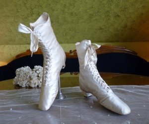 antique wedding shoes 1875