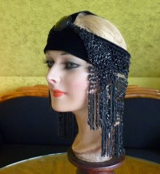 antique flapper headpice 1920