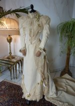 3 antique wedding Gown 1895