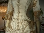 13 antique bustle wedding gown 1879