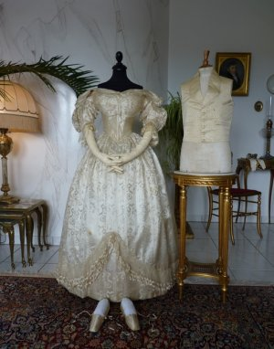 antique wedding ensemble 1835