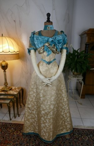 antique evening gown 1895