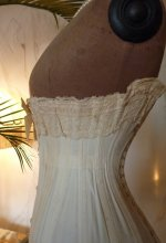 antique corset, corset 1900,  victorian corset, coeset ancienne, corset ancien, antique gown, antique dress, Edwardian corset