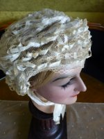 13 antique wedding bonnet 1850
