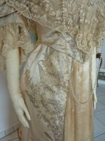 12 antique evening gown Worth 1910