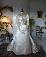2 antique ROUFF Wedding Dress 1896